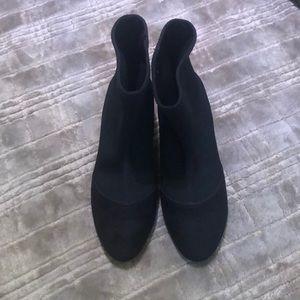 Black Nine West Sock Boot